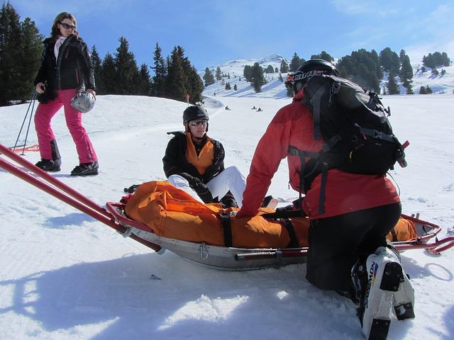 záchrana na sněhu