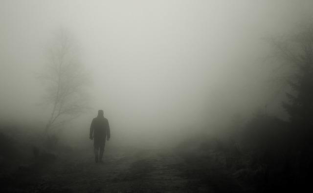člověk v mlze