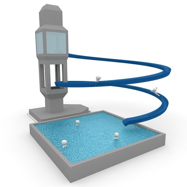Bazén s tobogánem